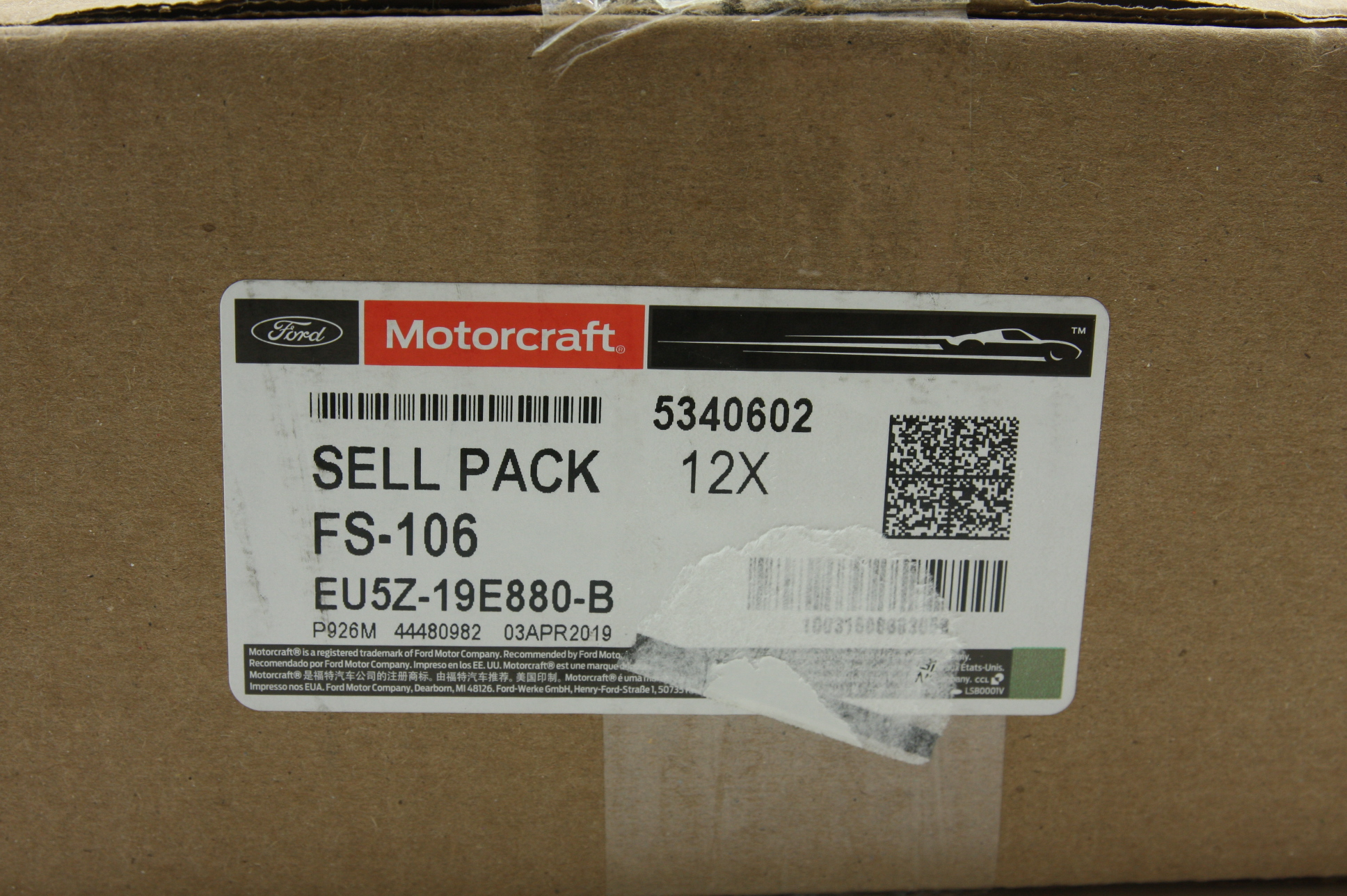 Case of 12 New OEM Motorcraft FS106 Ford EU5Z19E880B Climate Control Seat Filter - image 4