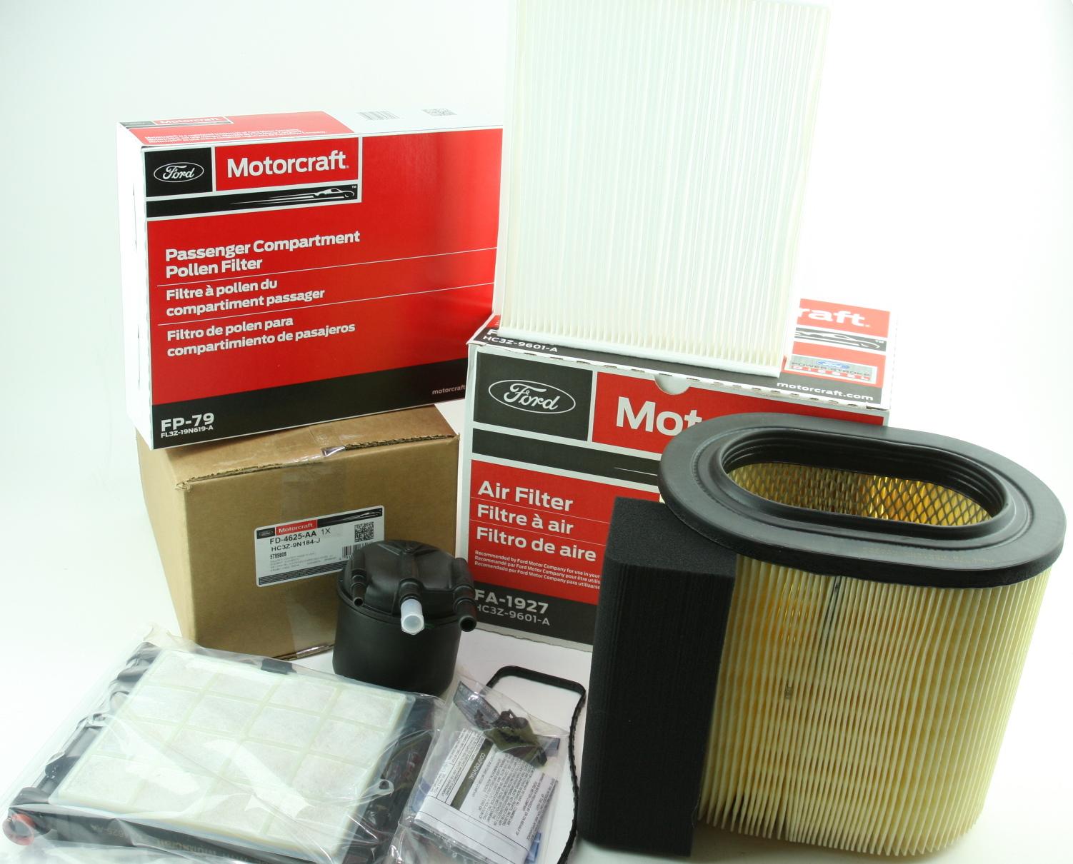 OEM Ford Diesel Engine & Cabin & Fuel Filter Kit Motorcraft FD4625 FA1927 FP79 - image 1