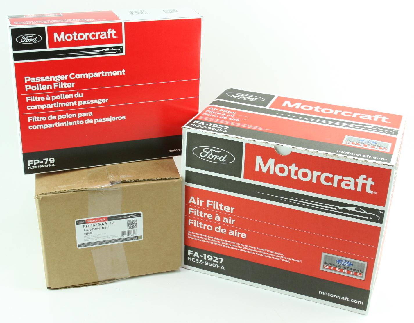 OEM Ford Diesel Engine & Cabin & Fuel Filter Kit Motorcraft FD4625 FA1927 FP79 - image 2