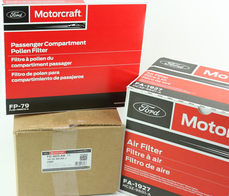 OEM Ford Diesel Engine & Cabin & Fuel Filter Kit Motorcraft FD4625 FA1927 FP79 - image 7