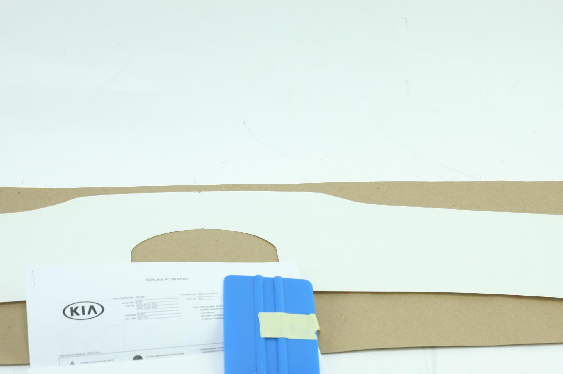 ** Genuine Kia Hood Protector Clear Applique 2018 Stinger New OEM J5F24-AU101 - image 5