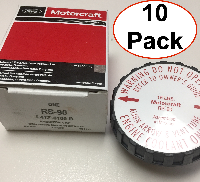 Pack of 10 - New OEM Motorcraft RS90 Ford F4TZ8100B Radiator Cap Free Shipping - image 1