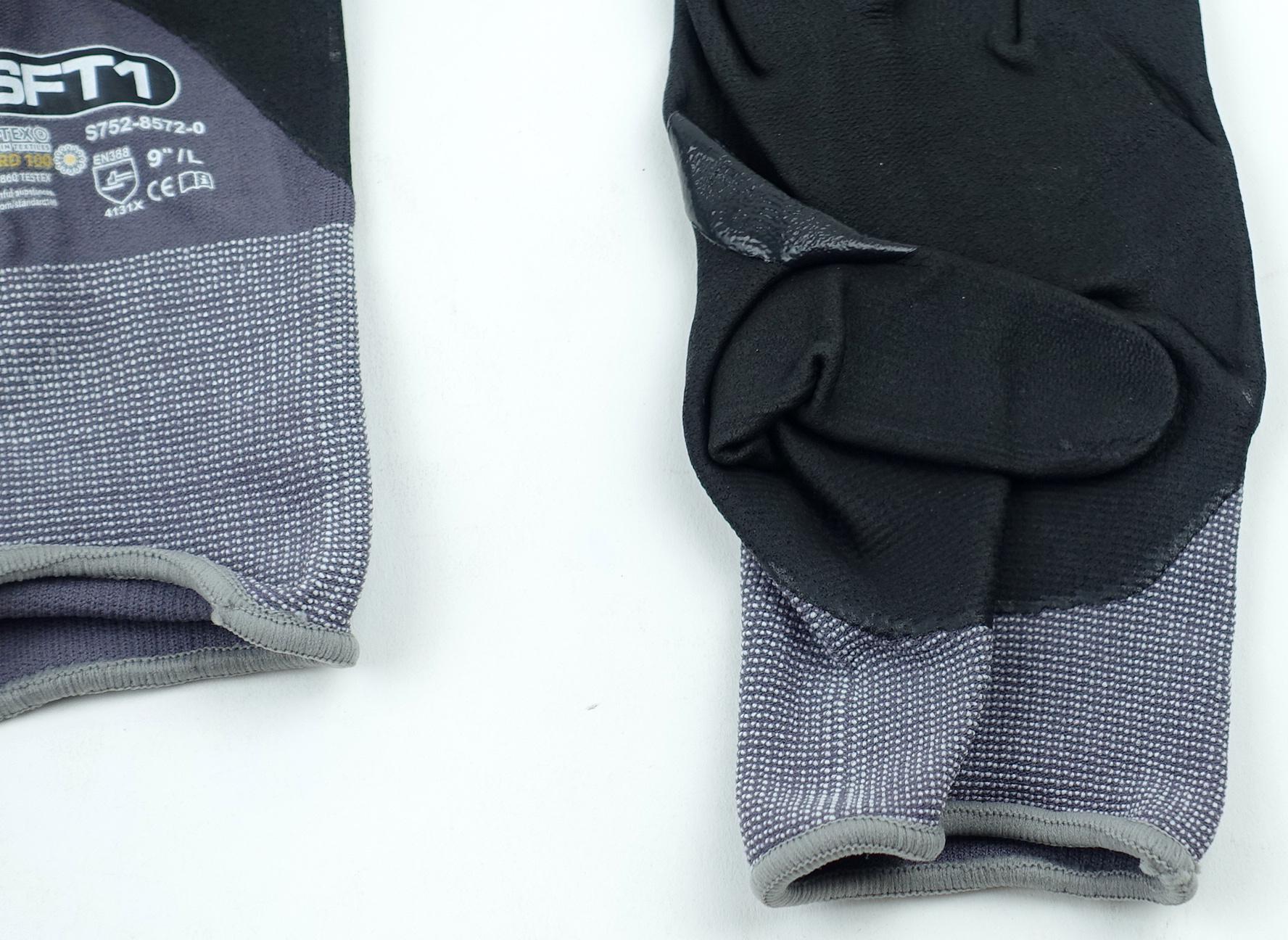 "Oeko-Tex S752-8572-0-9L SFT1 Standard 100 9"" Large Glove Gray/Black 1 Pair - image 7"