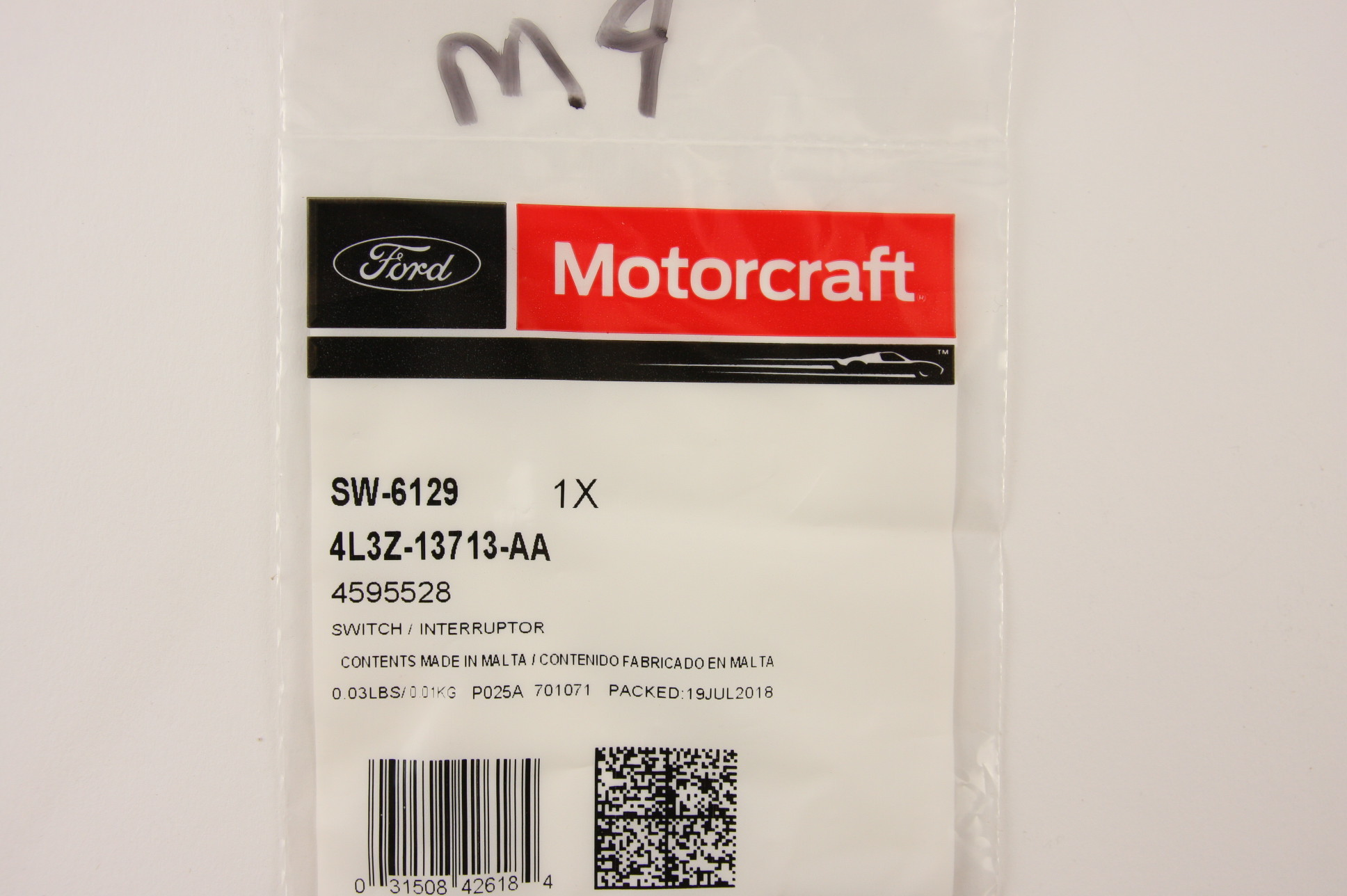 New OEM Motorcraft SW6129 Door Open Warning Switch Front Left Ford 4L3Z13713AA - image 8