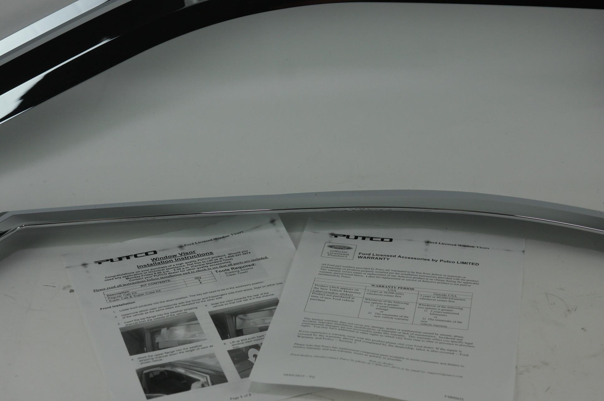~ New OEM VFL3Z18246C Genuine Ford Chrome Air Deflectors Side Windows - image 7
