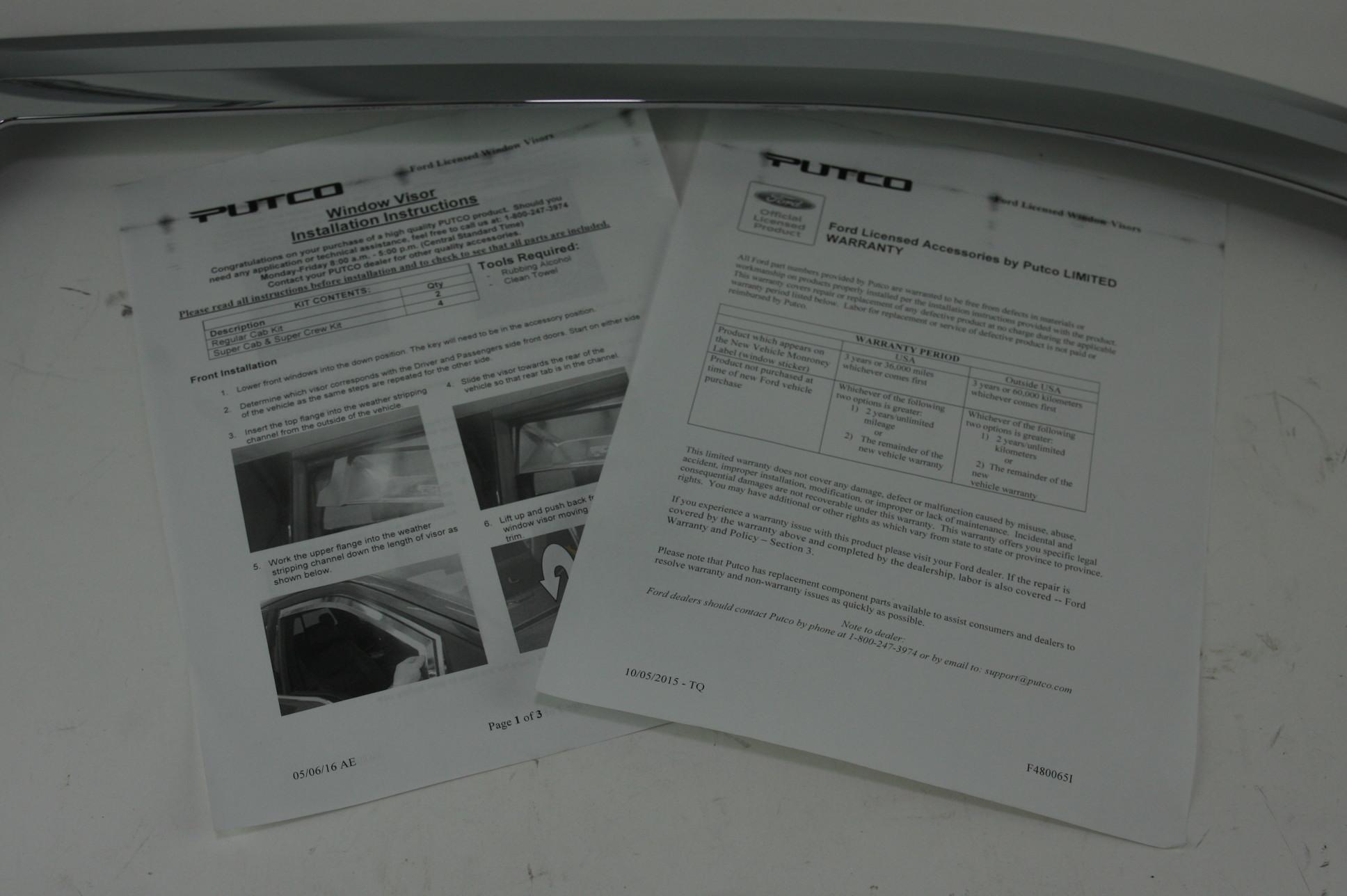 ~ New OEM VFL3Z18246C Genuine Ford Chrome Air Deflectors Side Windows - image 9
