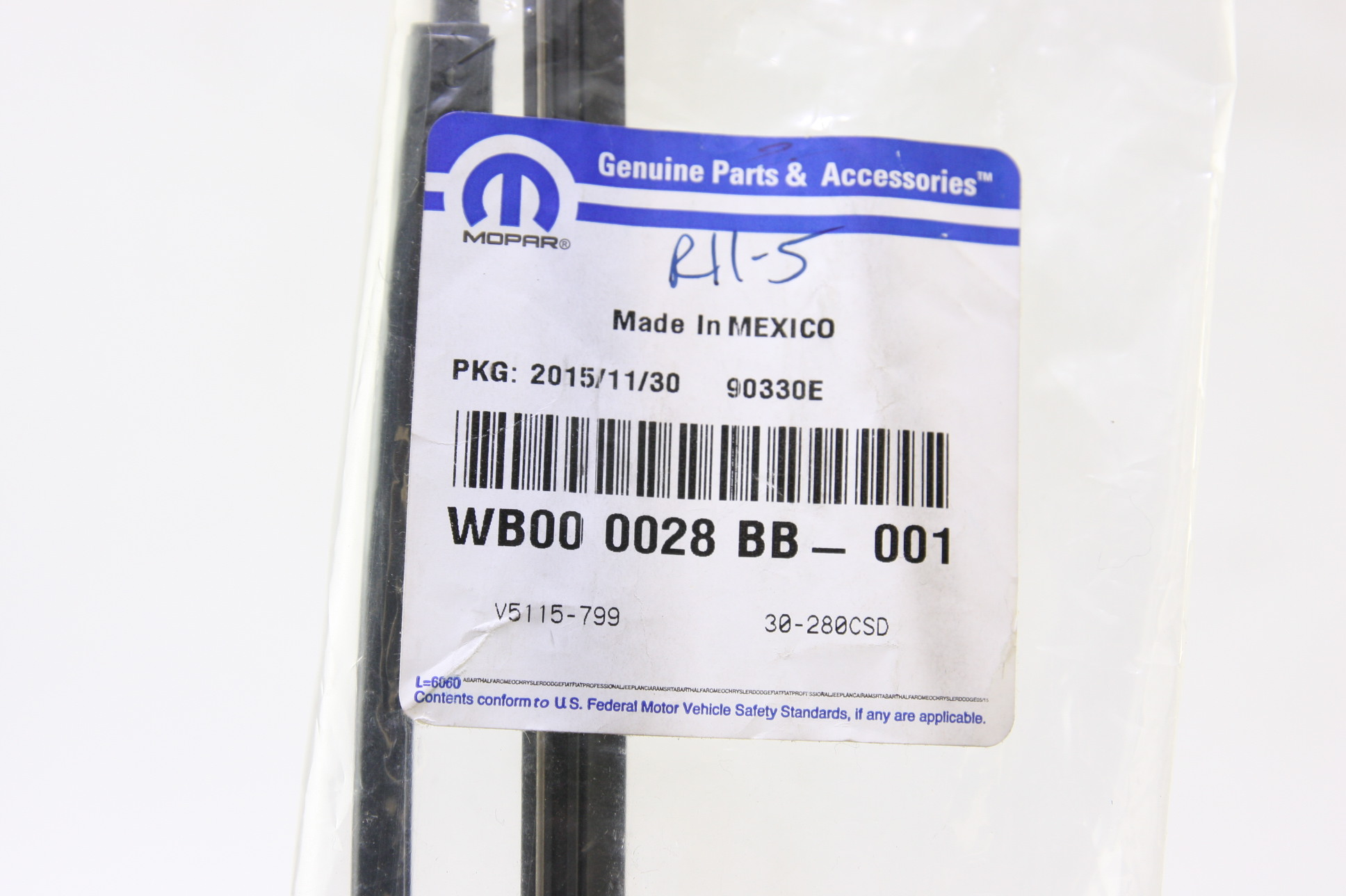*~ New OEM WB000028BB Genuine Mopar Front Wiper Blade Blade Free Shipping - image 2