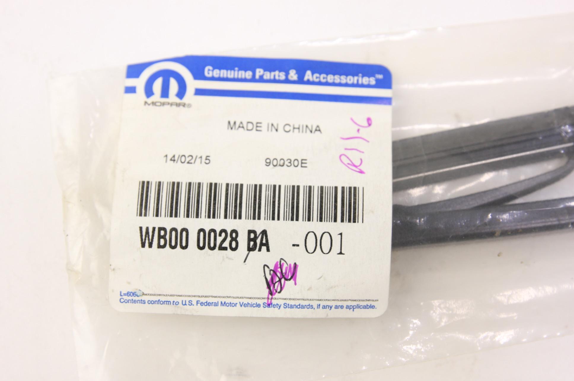 **~ New OEM WB000028-BC Mopar Genuine Mopar Blade Front Wiper Free Shipping - image 5