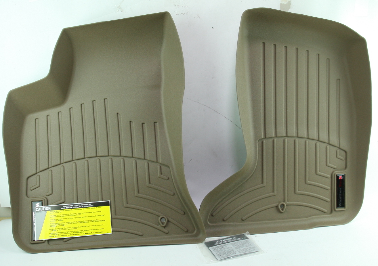 *** New WeatherTech 454251 Front Floor Liner for Challenger Charger 300 AWD Tan - image 2