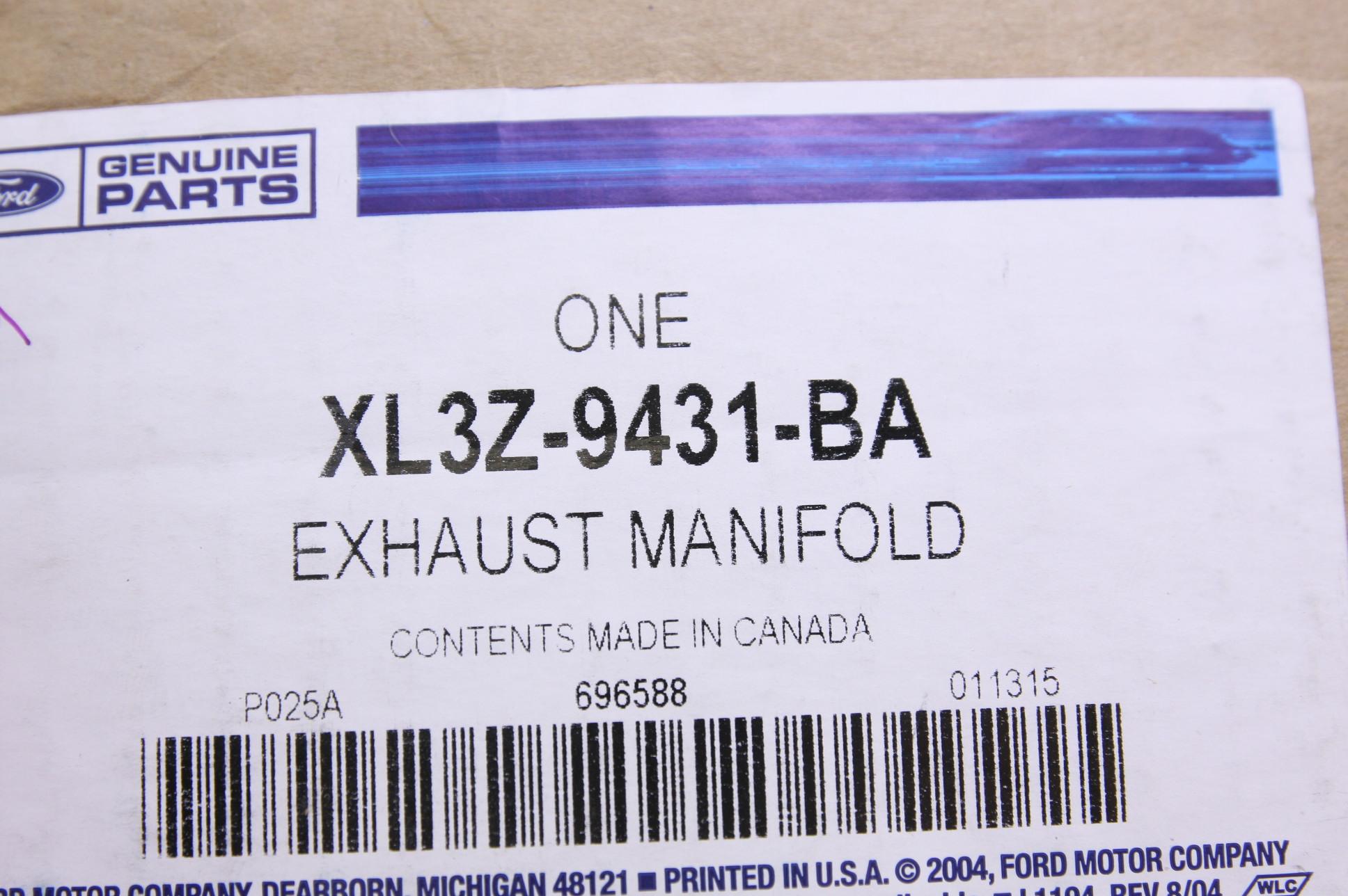 *** New Ford OEM XL3Z9431BA 99-04 F150 Exhaust Manifold Fast Free Shipping NIP - image 2
