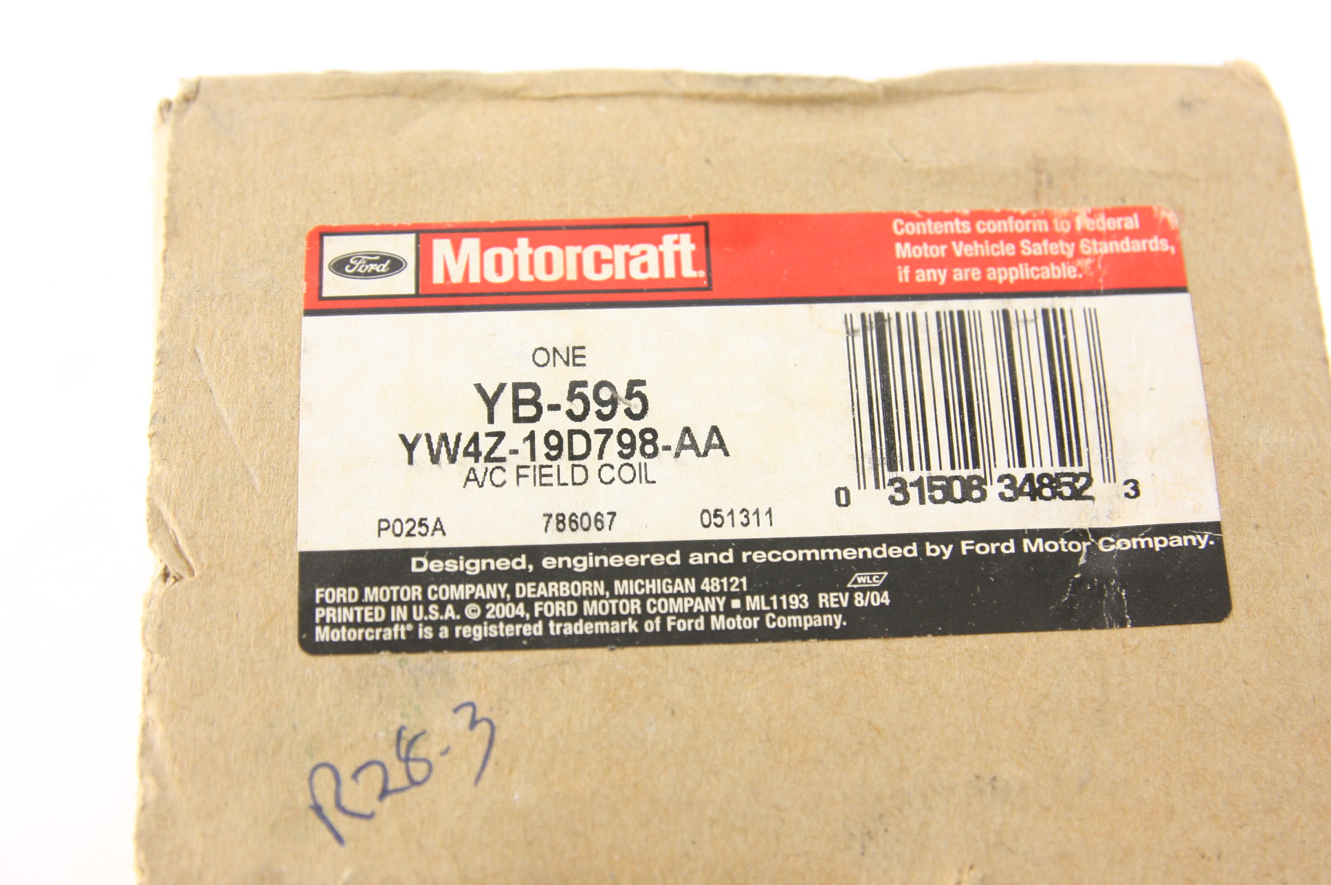 ***New Ford OEM YW4Z19D798AA Compressor Clutch Coil Fast Free Shipping NIP - image 2
